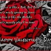 Red Rose Valentine Poster