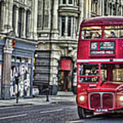 Red Routemaster Poster