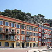 Red Row Houses In Nice Poster
