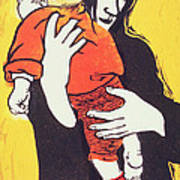Red Sock Poster by Carol Walklin