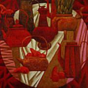 Red Still Life Poster