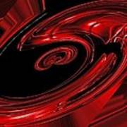 Red Swirl  Poster