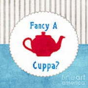 Red Teapot Poster