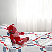 Red Teddy Bear Poster