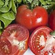 Red Tomatoes And Salade Poster