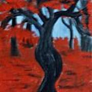 Red Trees Poster