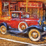 Red Truck Photo Art Poster