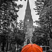 Red Under Rain Poster