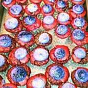 Red Velvet Superbowl Cupcakes Poster by Lexa Newman