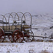 Red-wheeled Wagon   #0662 Poster