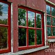 Red Windows Paned Poster