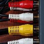 Red Yellow And White Cables Poster