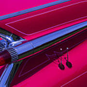 Red1959 Cadillac Poster