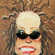 Ginger In Sunglasses Poster