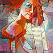 Redhead Poster by Jennifer Croom