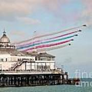 Reds Over Eastbourne Pier Poster