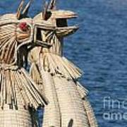 Reed Boat Lake Titicaca Poster