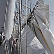 Reefing The Mainsail Poster