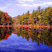 Reflected Autumn Lake Poster by William Carroll