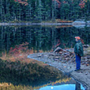 Reflecting On Fall Foliage Reflection Poster