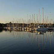 Reflecting On Yachts And Sailboats Poster