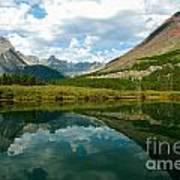 Reflection At Glacier National Park Poster