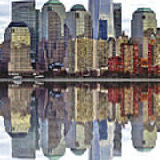 Reflection Of Downtown Nyc Poster