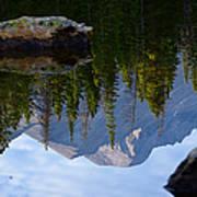 Reflection Of Longs Peak Poster