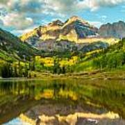 Reflection Of Maroon Bells Poster