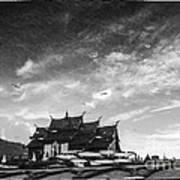 Reflection Of Royal Park Rajapruek Temple In The Water  Poster by Setsiri Silapasuwanchai