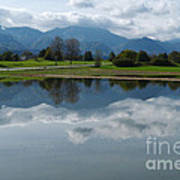 Reflections - Flooded Field - Austria Poster