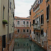 Reflections In Venetian Canal Poster