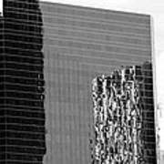 Reflections Of Architecture In Black And White Poster
