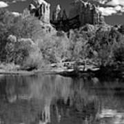 Reflections Of Sedona Black And White Poster