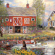 Reflections On Country Living Poster