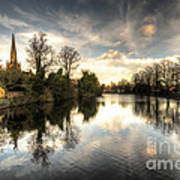 Reflections Over Lichfield Poster