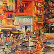 Reflections - Villefranche Poster by Peter Graham