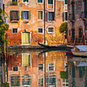 Reflective Moment In Venice Poster
