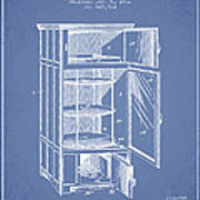 Refrigerator Patent From 1901 - Light Blue Poster