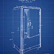 Refrigerator Patent From 1942 - Blueprint Poster