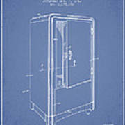 Refrigerator Patent From 1942 - Light Blue Poster