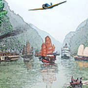 Refugees On The Yangtze Poster
