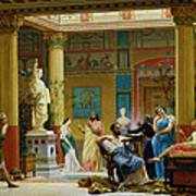 Rehearsal Of The Fluteplayer And The Diomedes Wife In The Atrium Of The Pompeian House Of Prince Poster
