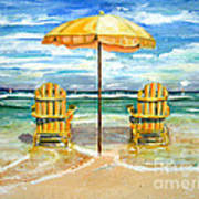 Relaxing At The Beach Poster by Chris Dreher