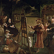Rembrandt In His Studio Poster