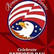 Remember Our Heroes Celebrate Patriots Day Poster Poster by Aloysius Patrimonio