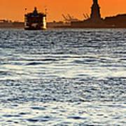 Remote Lady Liberty Poster