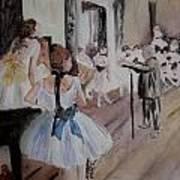 Dance Class By Degas Poster