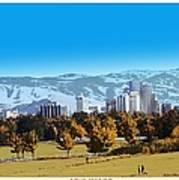 Reno Skyline From Rancho San Rafael Poster