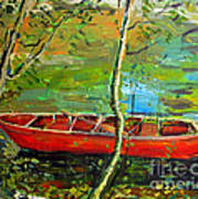 Renoirs Canoe Poster by Charlie Spear
